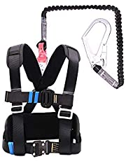Industrial Fall Protection Safety Harness Kit, Half Body Fall Protection Safety Harness, Safety Harness, With Stretchable Lanyard,Hook, Back D-Ring