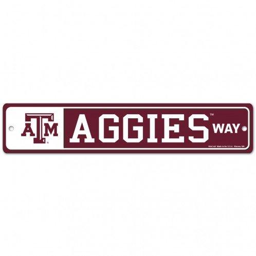 WinCraft NCAA Texas A/&M University 22917010 Street//Zone Sign 4.5 x 17