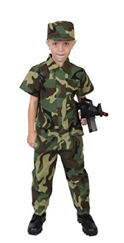 Commando Uniform - Rothco Kids Camouflage Soldier Costume, 7-9 Year