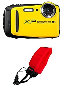 Fujifilm FinePix XP120 Waterproof Digital Camera (Yellow) + Focus Camera Floating Strap