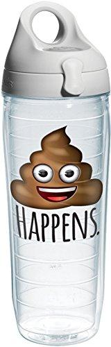 Tervis 24 oz. Poop Happens Emoji Water Bottle 24 oz. Water Bottle by