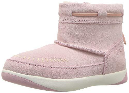 - UGG Girls' T Cali Moc Campfire Fashion Boot, Baby Pink, 8 M US Toddler
