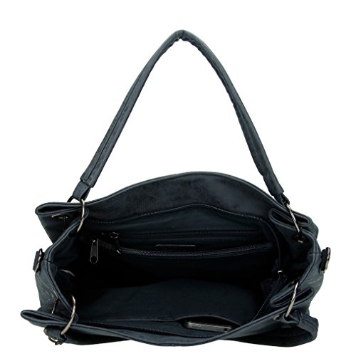 Benetti Enrico PU Navy Handbag Toulouse 66108 6SqwO