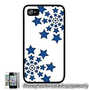 Blue Stars Spirals Pattern Apple iPhone 4 4S Case Cover Skin Black by runtopwell