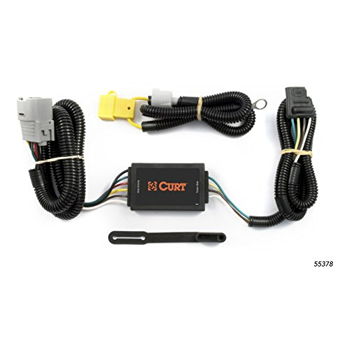 (CURT 55378 Vehicle-Side Custom 4-Pin Trailer Wiring Harness for Select Toyota Tundra)
