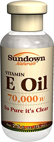 Sundown Naturals Huile de vitamine E, 70 000 UI, 2,5 Onces (pack de 3)