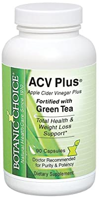Botanic Choice Acv Plus fortified with Green Tea 90 capsules Bottle (Pack of 4)