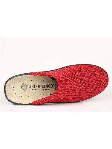 Arcopedico–Zuecos para mujer Rojo