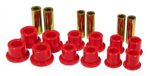 (Prothane 6-1025 Red Front Spring and Shackle Bushing Kit)