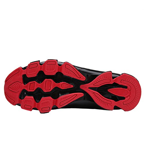 Bomkin Uomo Scarpe Da Corsa Leggere Slip On Mesh Casual Sneakers Traspiranti Sneakers Da Ginnastica Rosse