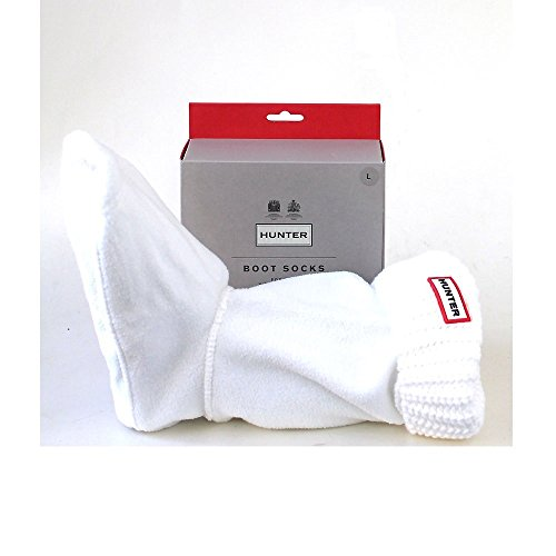 Hunter Woman Short Half Cardigan Boot Sock White *
