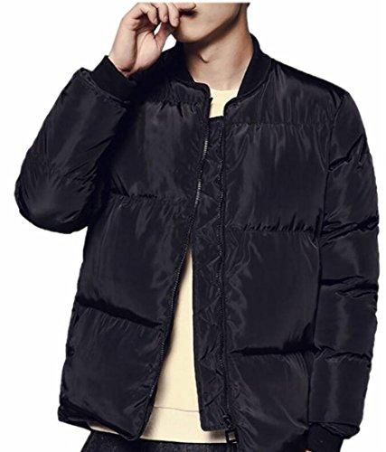 Puffer today Winter Thicken UK Mens Zip Up Packable Winter Coat Black w8gO8xr0q
