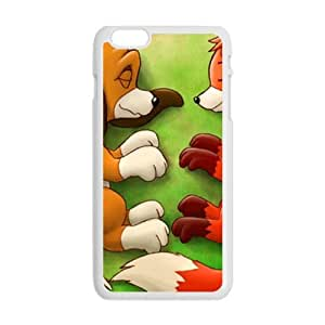 Lovely fox and wolf Cell Phone Case for iPhone plus 6