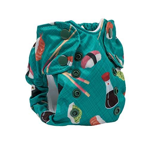 No Prep Cloth Diaper for Newborns - Smart Bottoms Born Smart 2.0 - Washable, Reusable - Natural Fiber Interior (You're My Soymate)