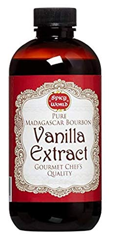Spicy World Madagascar Bourbon Pure Vanilla Extract - One Month Cold Extraction Process! No Heat or Pressure Used! … (4 Ounce)