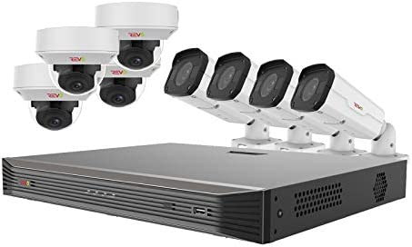 Revo America Ultra 16 Ch. 4TB HDD IP NVR Video Surveillance System, 8 x 4K Motorized Varifocal Lens Indoor Outdoor Cameras – Remote Access via Smart Phone, Tablet, PC MAC