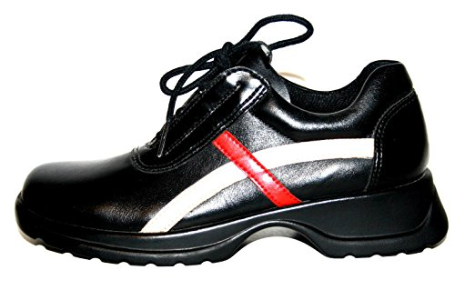 Salamander , Chaussures de ville à lacets pour fille Noir Schwarz/Beige/Rot 33