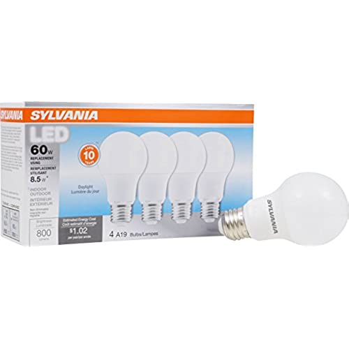 Daylight saving outdoor lights amazon sylvania 60w equivalent led light bulb a19 lamp 4 pack daylight energy saving longer life value line medium base efficient 85w 5000k aloadofball Gallery
