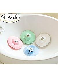 4 Silicone Bathtub/Tub Drain Stoppers.