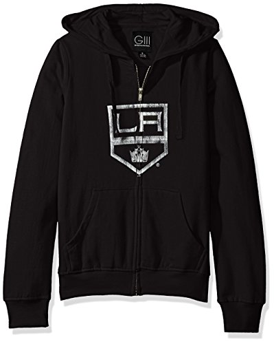 GIII For Her NHL Los Angeles Kings Women's Wildcat Full Zip Hoodie, Medium, ()