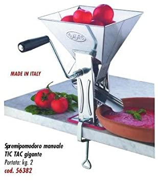 Trituradora de tomates manual Tic Tac, tamaño gigante, acero inoxidable, 2 kg: Amazon.es: Hogar