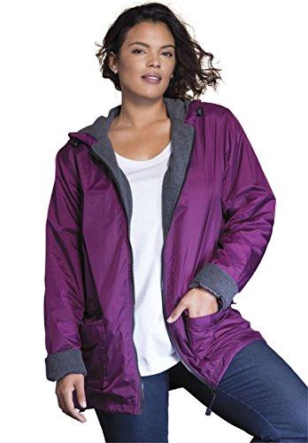 Roamans Women's Plus Size Hooded Nylon Jacket