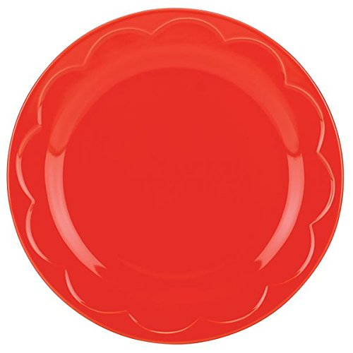 Red Accent Salad Plate - kate spade new york kitchen Red Sculpted Scallop Accent Plate