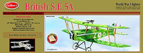 Guillow's British SE 5-A Laser Cut Model Kit