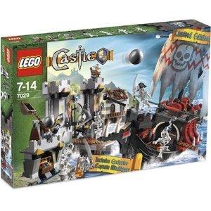[해외] LEGO (레고) CASTLE EXCLUSIVE SET SKELETON SHIP ATTACK WITH EXCLUSIVE SKELETON PIRATE CAPTAIN MINIFIGURE #7029 블럭 장난감 (병행수입)