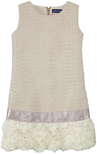 Andy & Evan Rosie Party Dress (Toddler/Kid) - Cream-4T by Andy & Evan