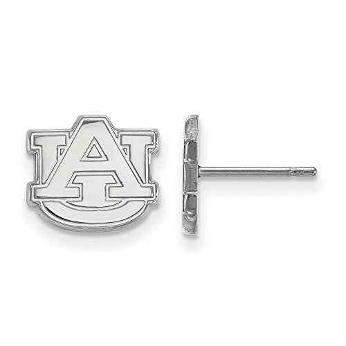 925 Sterling Silver Officially Licensed Auburn University College Mini Small Post Earrings (9 mm x 10 mm) by Mia's Collection