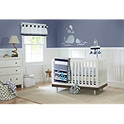 Just Born Crib Bedding Set, High Seas, Anchors, Nautical