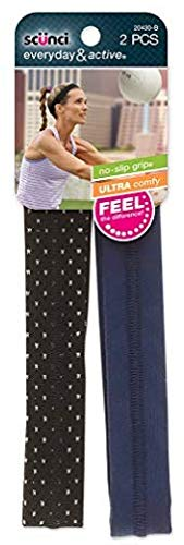 Scunci No-Slip Silicone Headwraps, Polka Dot/Navy, for sale  Delivered anywhere in USA