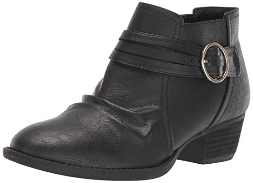Dr. Scholl's Shoes Women's Jenna Ankle Boot, Black Smooth, 10 M US