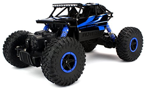 Atv Rtr Electric - Velocity Toys Rock Crawler Remote Control RC High Performance Truck 2.4 GHz Control System 4WD All-Weather 1:18 Size RTR (Colors May Vary)
