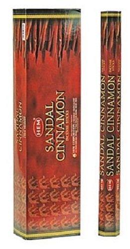 Sandal Cinnamon - Hem Jumbo 16 Inch Incense Sticks 10 Stick Hexagon Box (Set of 6)
