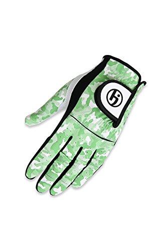 HJ Glove Youth Future Master Golf Glove, Green Camo, Medium, Left Hand