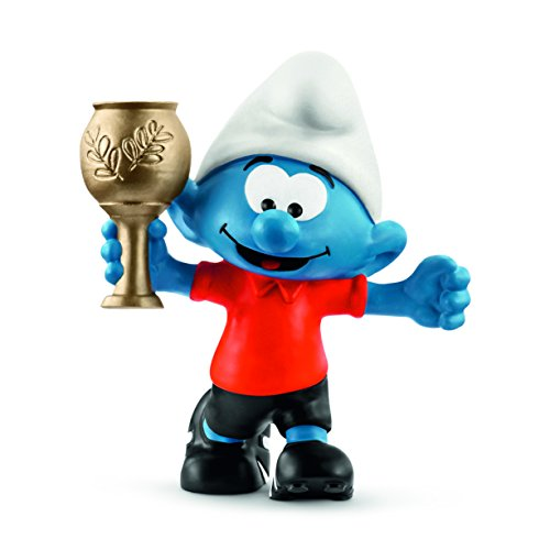 Gag Trophies - Schleich Soccer Smurf with Trophy Toy
