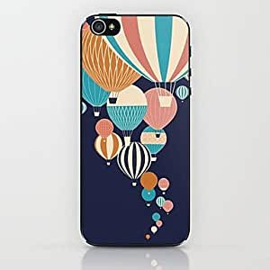 SOL Blue Hot Air Balloon Pattern Hard Case for iPhone 5/5S