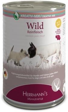 Herrmanns - Pienso complementario para Perros y Gatos Wild 100% Carne Pura 400 g