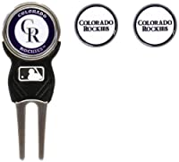 MLB Colorado Rockies Divot Tool Pack With 3 Golf Ball Markers