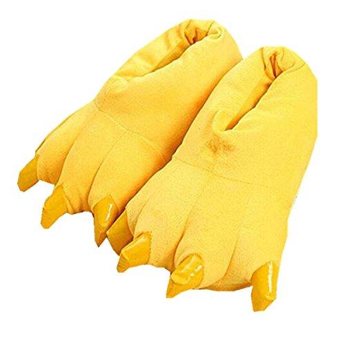 Patte Pantoufles Coton Jaune de d'hiver Anti de de Mignonnes Dérapant de Pantoufles Chaud Patte Maison 6n0pqawxI