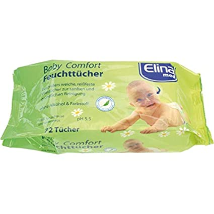 Toallitas húmedas de bebé pañuelos en accesorios 72 pcs
