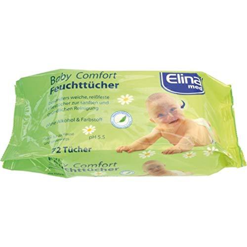 Feuchttücher Babytücher Babyzubehör 72 Stück Elina Med