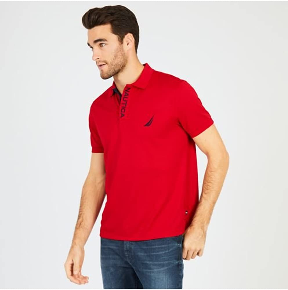 Nautica Mens Classic Fit Short Sleeve Solid Moisture Wicking Polo Shirt