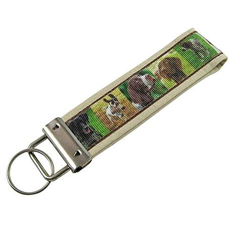 Spaniel perro llavero/tela clave cadena: Amazon.es: Oficina ...
