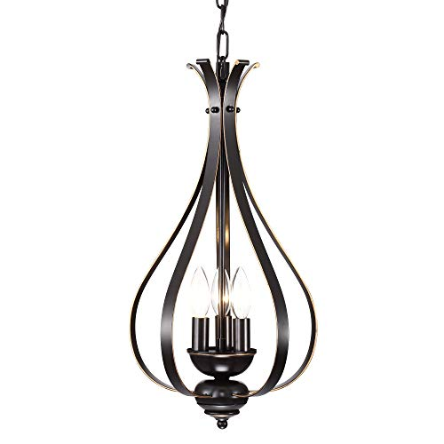 Chandeliers Vintage Chandelier Lighting Bronze Hanging Light Fixture Industrial Pendant Light 3 -