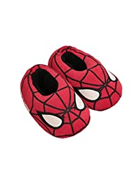 Yiwant Boy's Slippers Comfort Cotton Cartoon Washable Flat Closed Toe Indoor Shoes with Non-Slip Sole