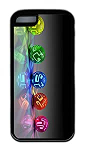 The Beauty Of The Ball Lovely Mobile Phone Protection Shell For iPhone 5c Cases - Unique Cool Black Soft Edge Case