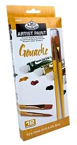 Royal & Langnickel - Témperas (12 ml, 12 unidades), multicolor